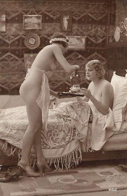maid serving tea