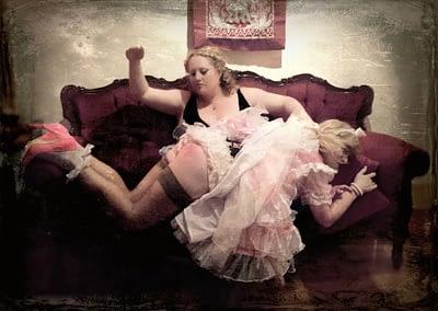 Mistress Artemisia sissy Sydney spanking petticoat